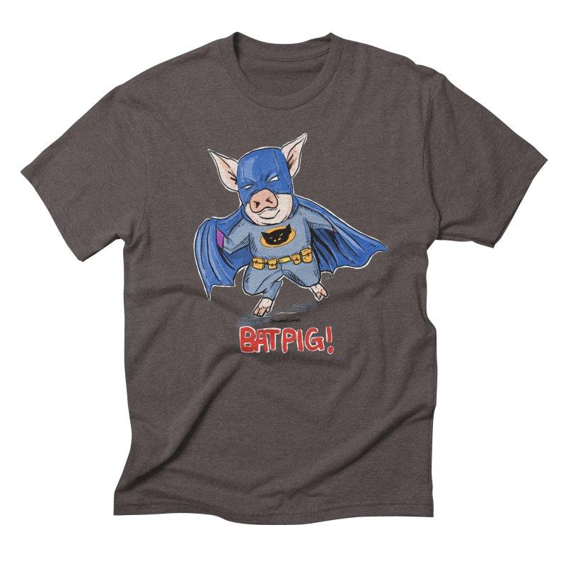 BatPig Men's Triblend T-Shirt by Pigment World Artist Shop