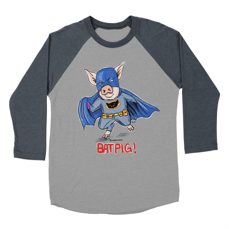BatPig Men's Baseball Triblend T-Shirt by Pigment World Artist Shop