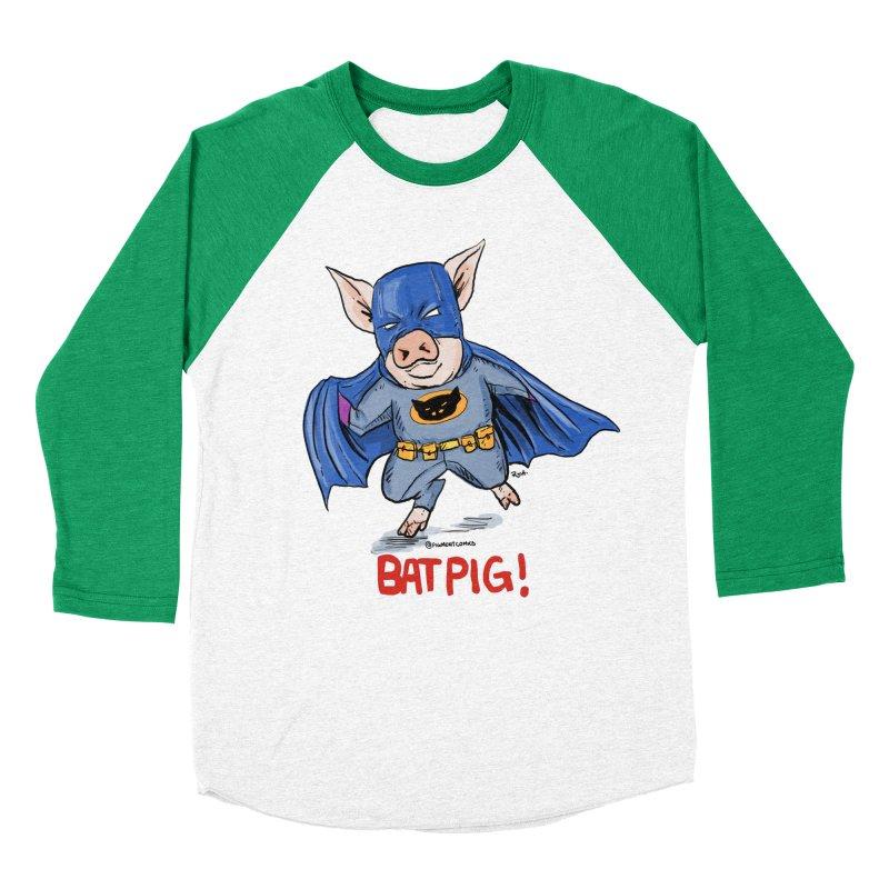 BatPig Men's Baseball Triblend Longsleeve T-Shirt by Pigment World Artist Shop