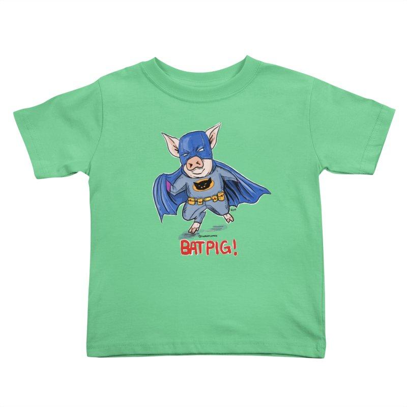 BatPig Kids Toddler T-Shirt by rjamadoart's Artist Shop