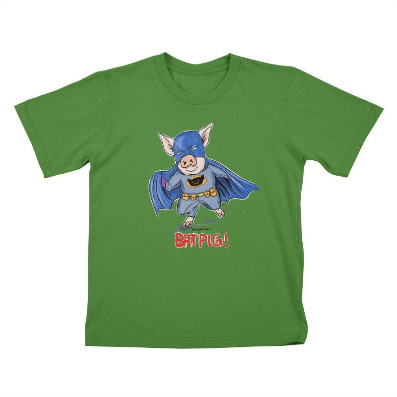 BatPig Kids T-shirt by rjamadoart's Artist Shop