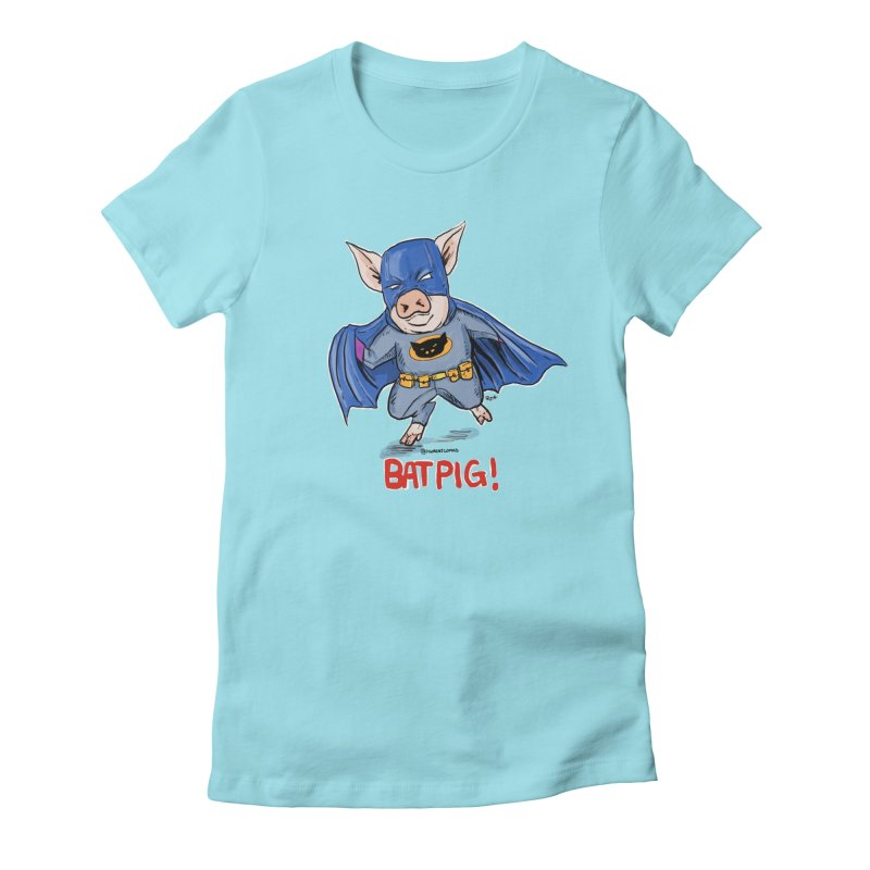 BatPig Women's Fitted T-Shirt by rjamadoart's Artist Shop
