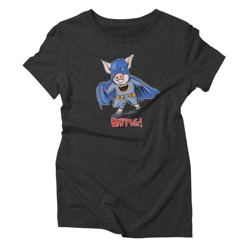 BatPig Women's Triblend T-Shirt by Pigment World Artist Shop