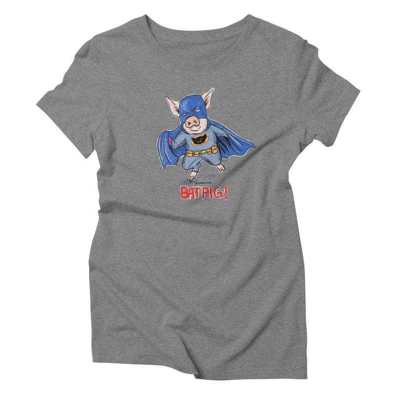 BatPig Women's T-Shirt by Pigment World Artist Shop