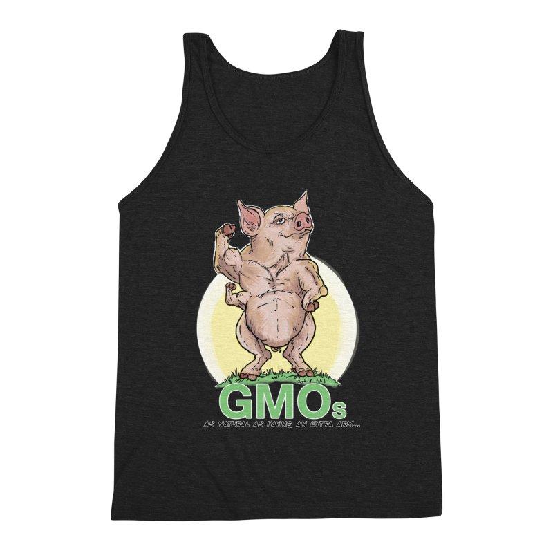 GMO Pig Men's Tank by Pigment World Artist Shop