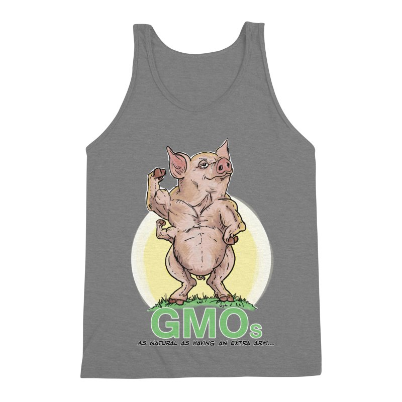 GMO Pig Men's Triblend Tank by Pigment World Artist Shop