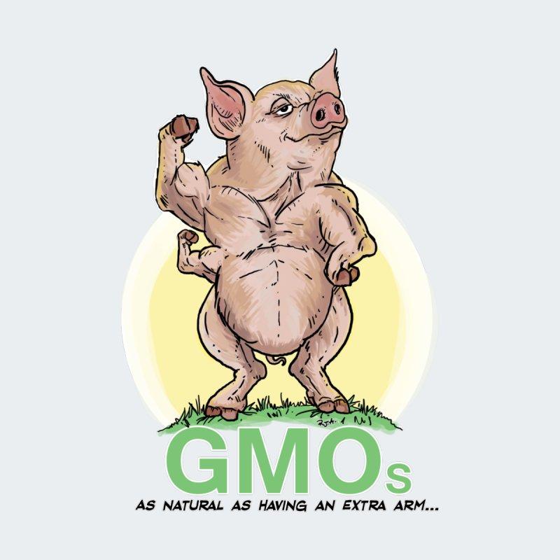 GMO Pig Men's T-Shirt by Pigment World Artist Shop
