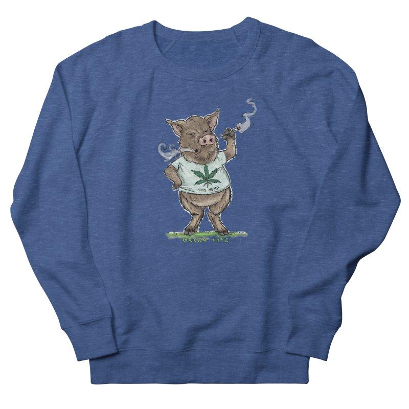Green Life  Men's Sweatshirt by Pigment World Artist Shop
