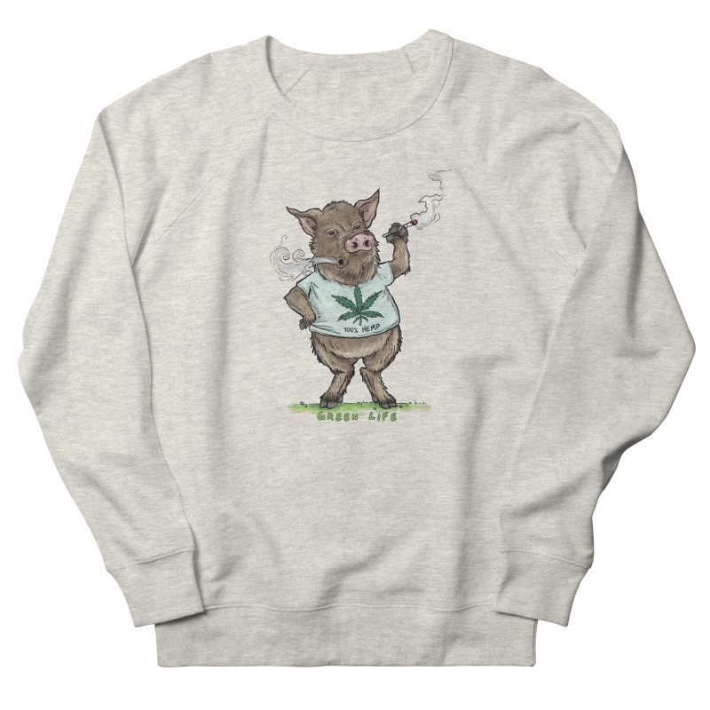 Green Life  Men's French Terry Sweatshirt by Pigment World Artist Shop