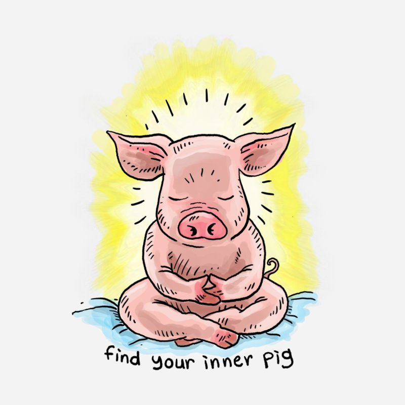 Inner Pig (color 2) Men's T-Shirt by Pigment World Artist Shop