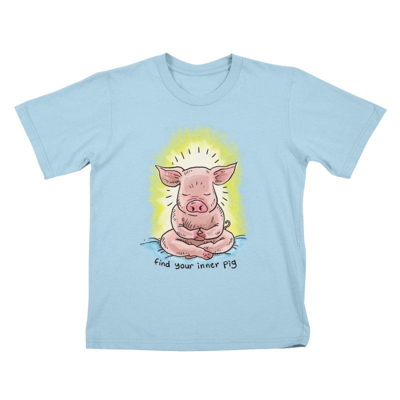 Inner Pig (color 2) Kids T-Shirt by Pigment World Artist Shop
