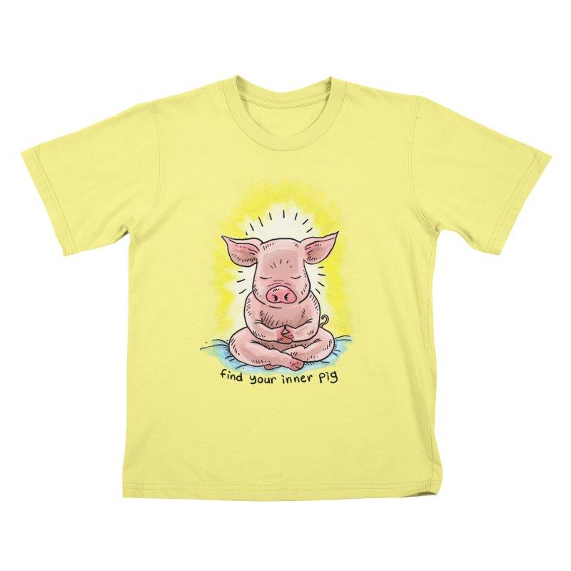 Inner Pig (color 2) Kids T-shirt by rjamadoart's Artist Shop