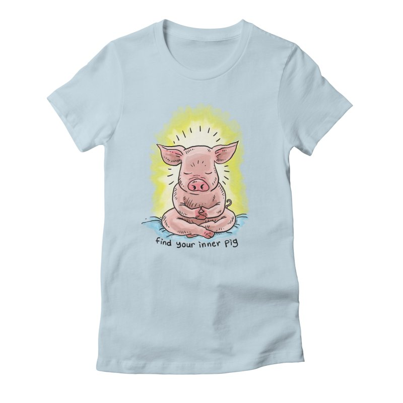 Inner Pig (color 2) Women's Fitted T-Shirt by rjamadoart's Artist Shop