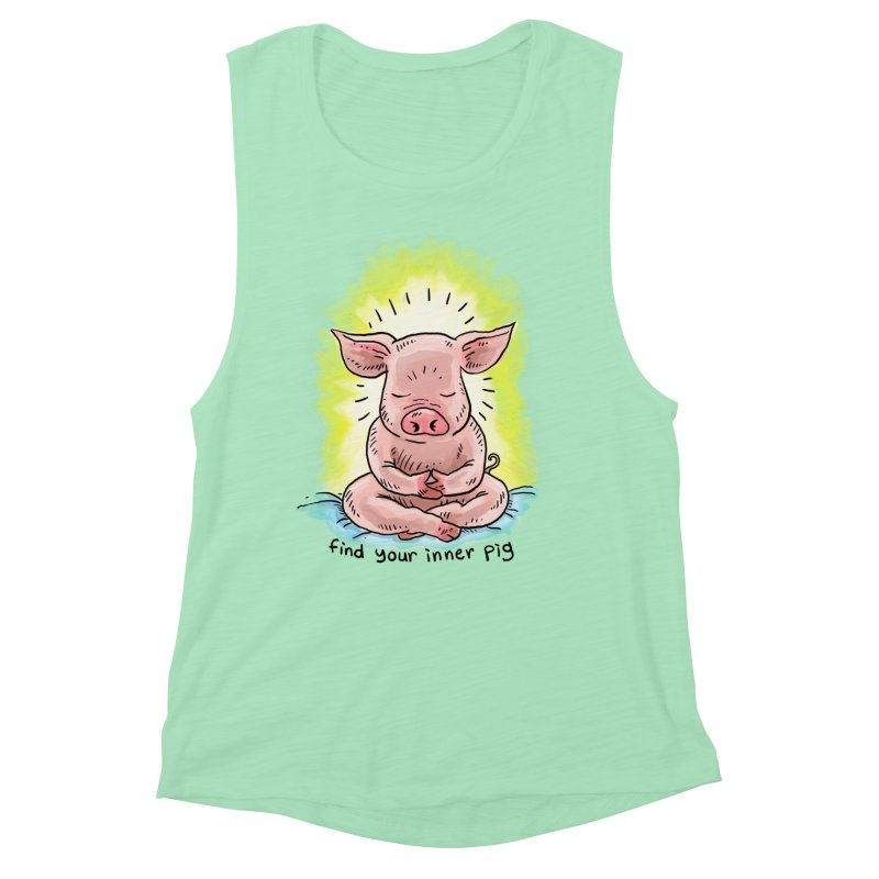 Inner Pig (color 2) Women's Muscle Tank by Pigment World Artist Shop
