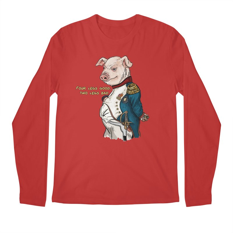 Napoleon Pig Men's Regular Longsleeve T-Shirt by Pigment World Artist Shop