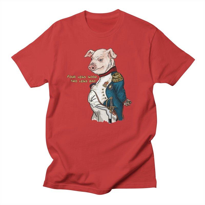 Napoleon Pig Men's Regular T-Shirt by Pigment World Artist Shop