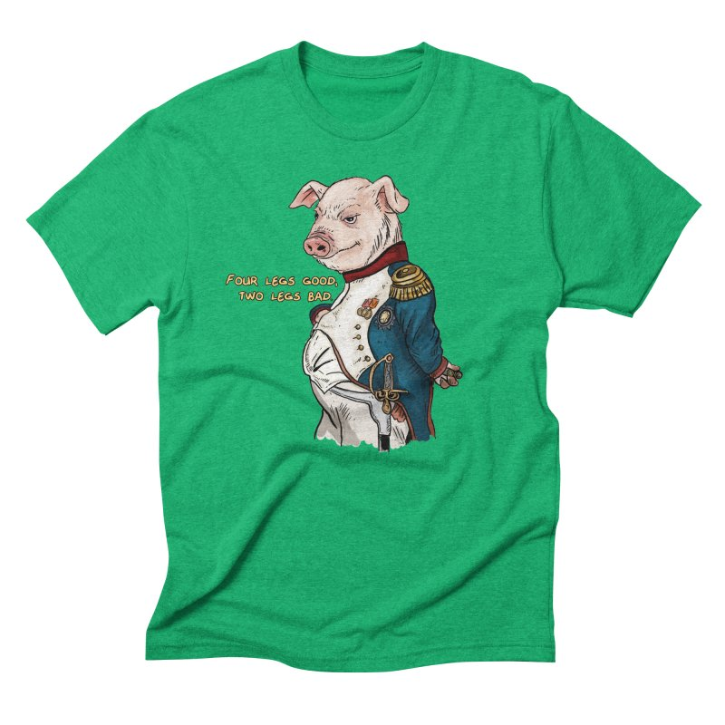 Napoleon Pig Men's Triblend T-Shirt by Pigment World Artist Shop
