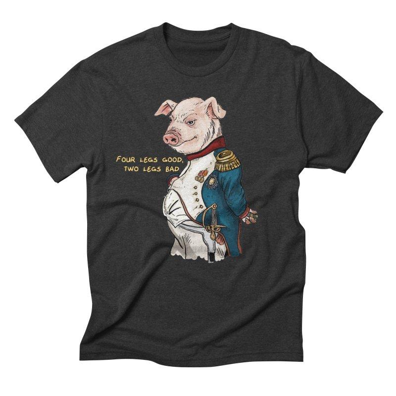 Napoleon Pig Men's Triblend T-shirt by rjamadoart's Artist Shop