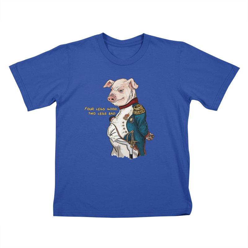 Napoleon Pig Kids T-Shirt by Pigment World Artist Shop