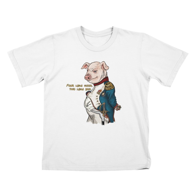 Napoleon Pig Kids T-Shirt by Pigment World Artist Shop