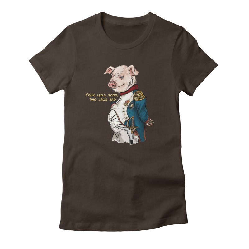 Napoleon Pig Women's Fitted T-Shirt by rjamadoart's Artist Shop