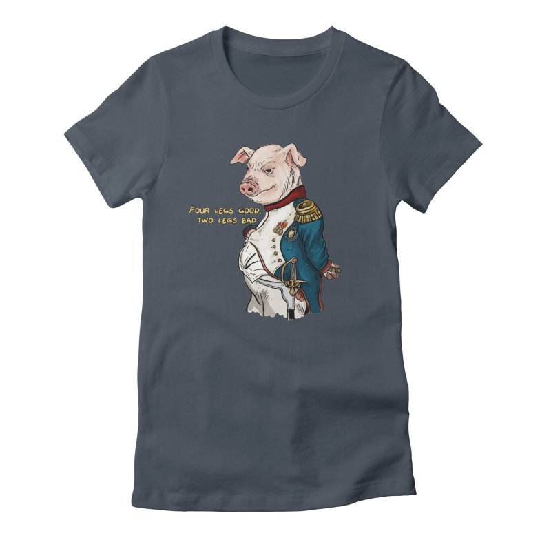 Napoleon Pig Women's T-Shirt by Pigment World Artist Shop