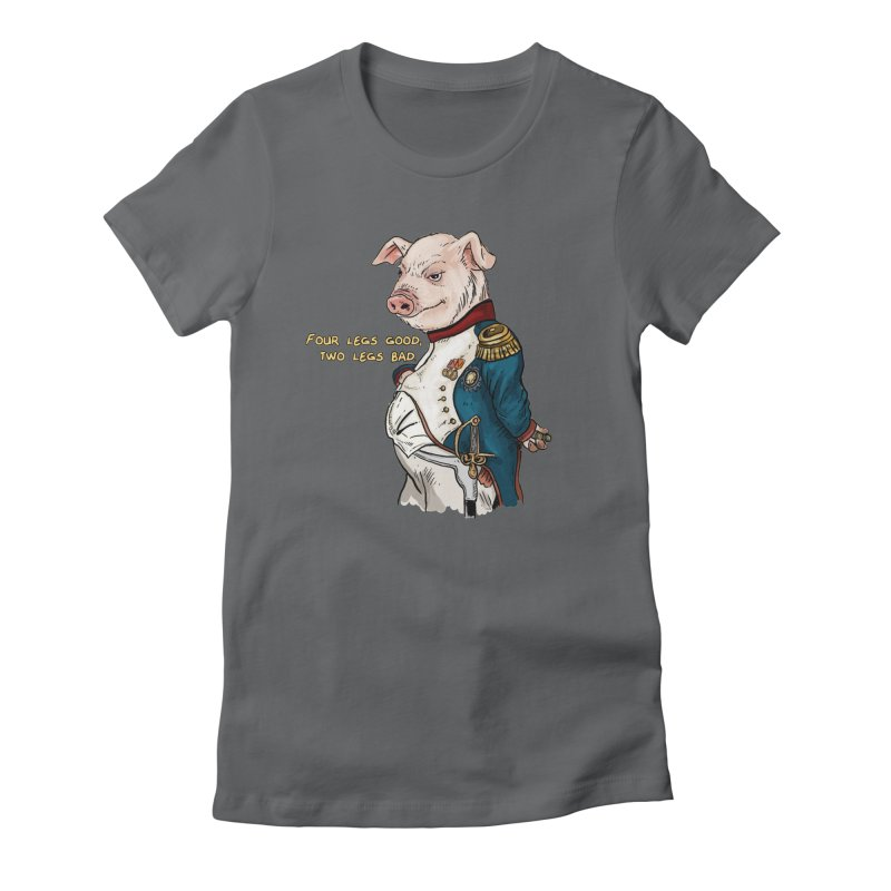 Napoleon Pig Women's Fitted T-Shirt by Pigment World Artist Shop