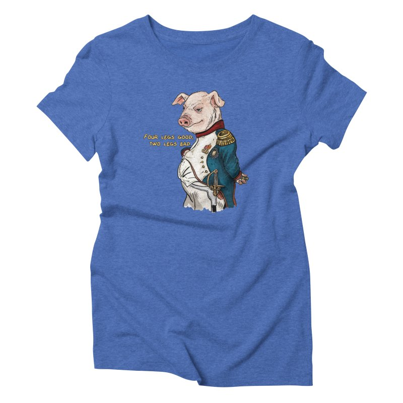 Napoleon Pig Women's Triblend T-shirt by rjamadoart's Artist Shop