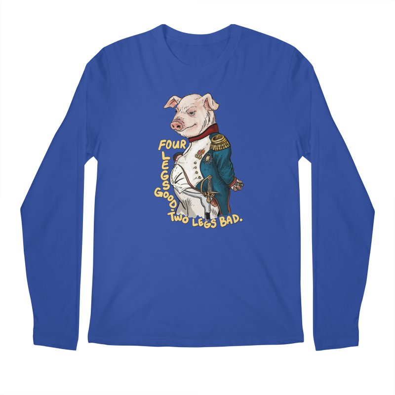 Napoleon Pig Men's Longsleeve T-Shirt by Pigment World Artist Shop