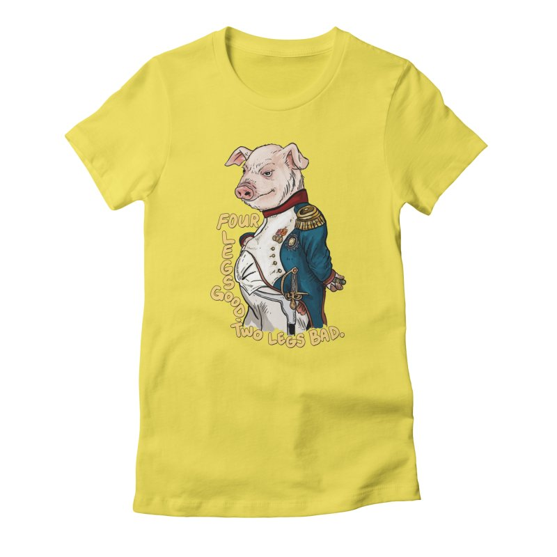 Napoleon Pig Women's T-Shirt by Pigment World Artist Shop