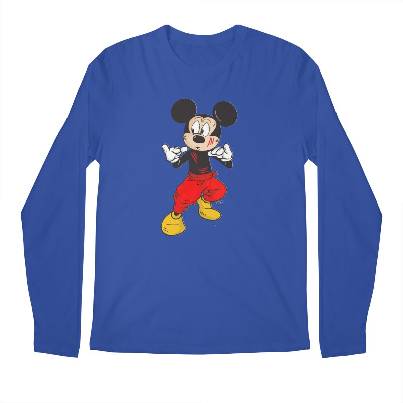 Enter The Mouse  Men's Regular Longsleeve T-Shirt by Pigment World Artist Shop