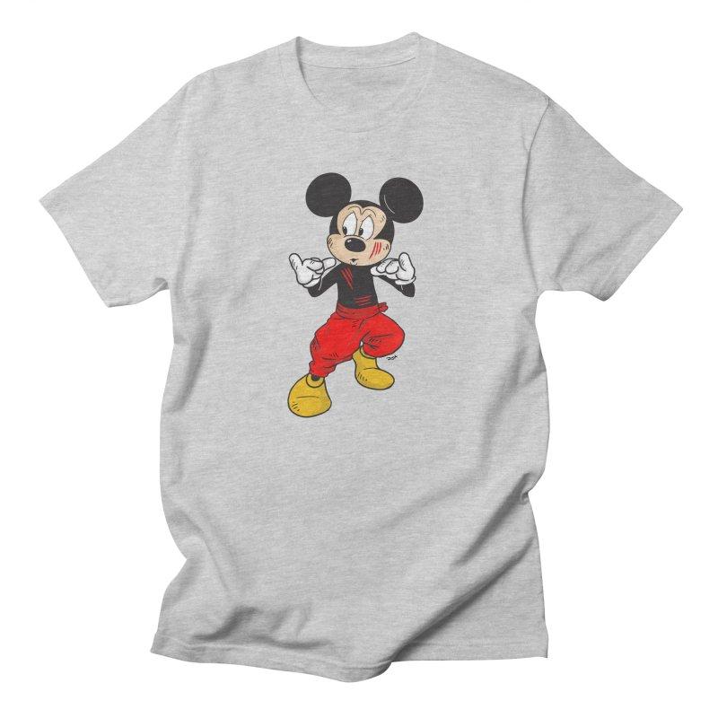 Enter The Mouse  Men's Regular T-Shirt by Pigment World Artist Shop