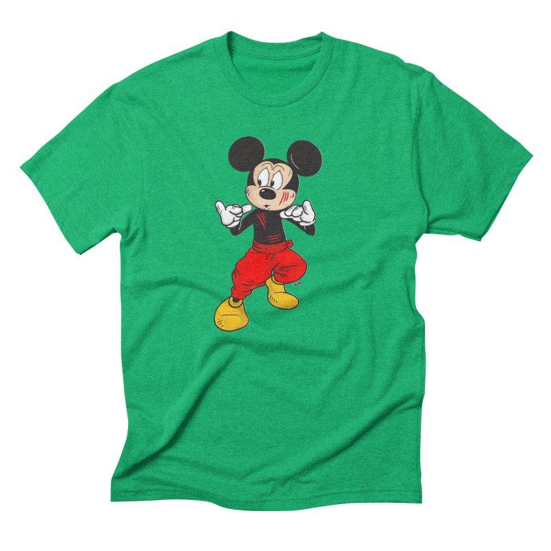 Enter The Mouse  Men's Triblend T-Shirt by Pigment World Artist Shop