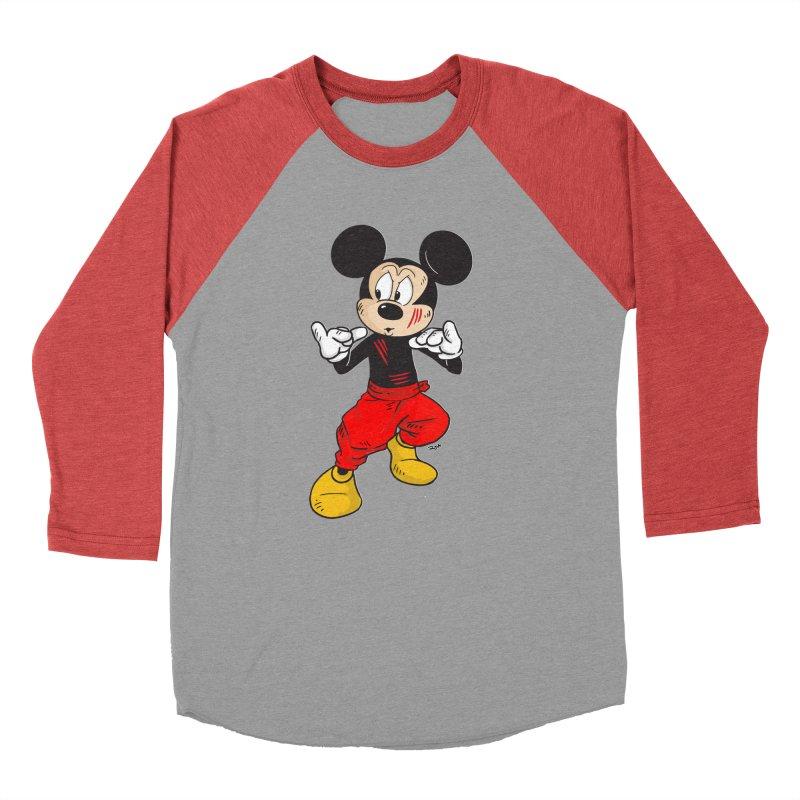 Enter The Mouse  Men's Baseball Triblend Longsleeve T-Shirt by Pigment World Artist Shop