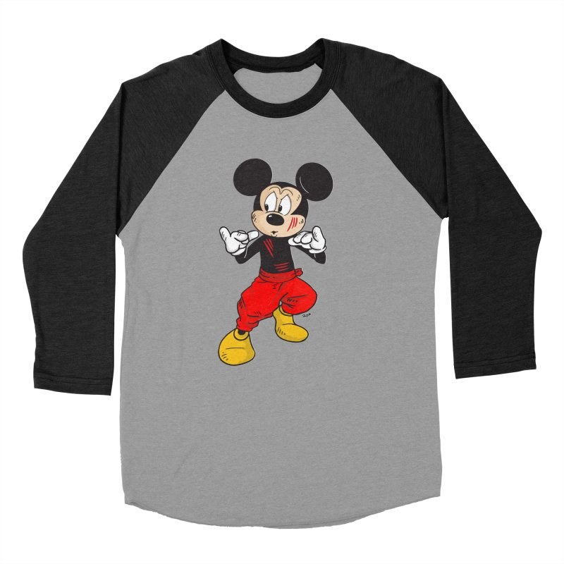 Enter The Mouse  Men's Baseball Triblend T-Shirt by Pigment World Artist Shop