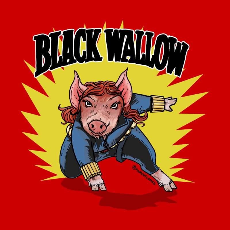 Black Wallow Kids Longsleeve T-Shirt by Pigment World Artist Shop