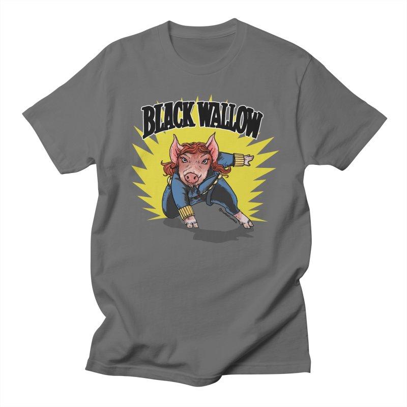 Black Wallow Men's T-Shirt by Pigment World Artist Shop
