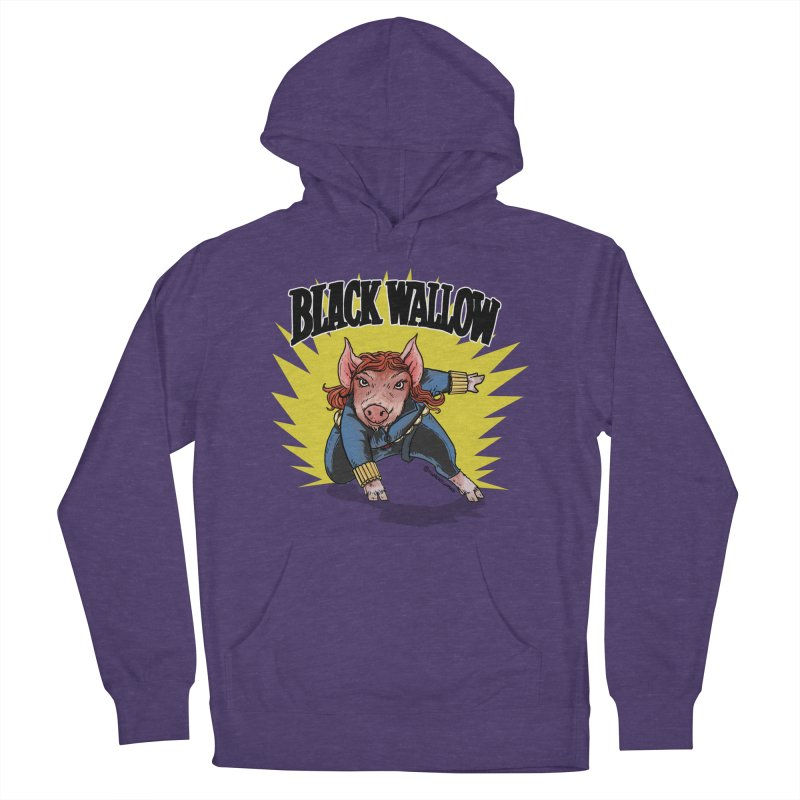 Black Wallow Women's French Terry Pullover Hoody by Pigment World Artist Shop
