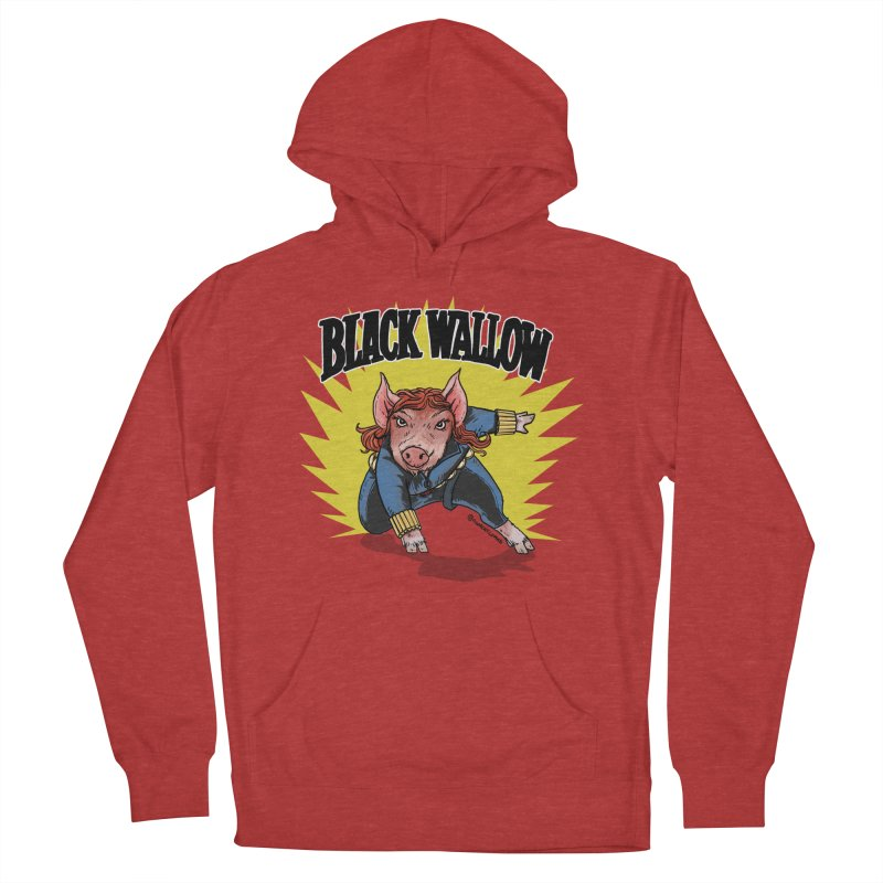 Black Wallow Men's French Terry Pullover Hoody by Pigment World Artist Shop