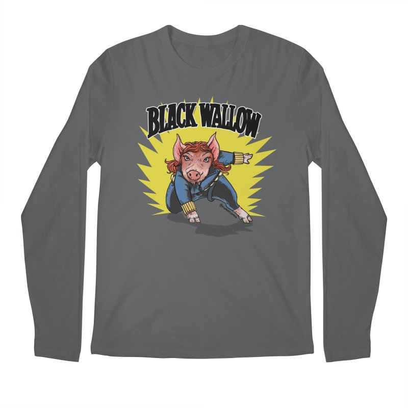 Black Wallow Men's Longsleeve T-Shirt by Pigment World Artist Shop