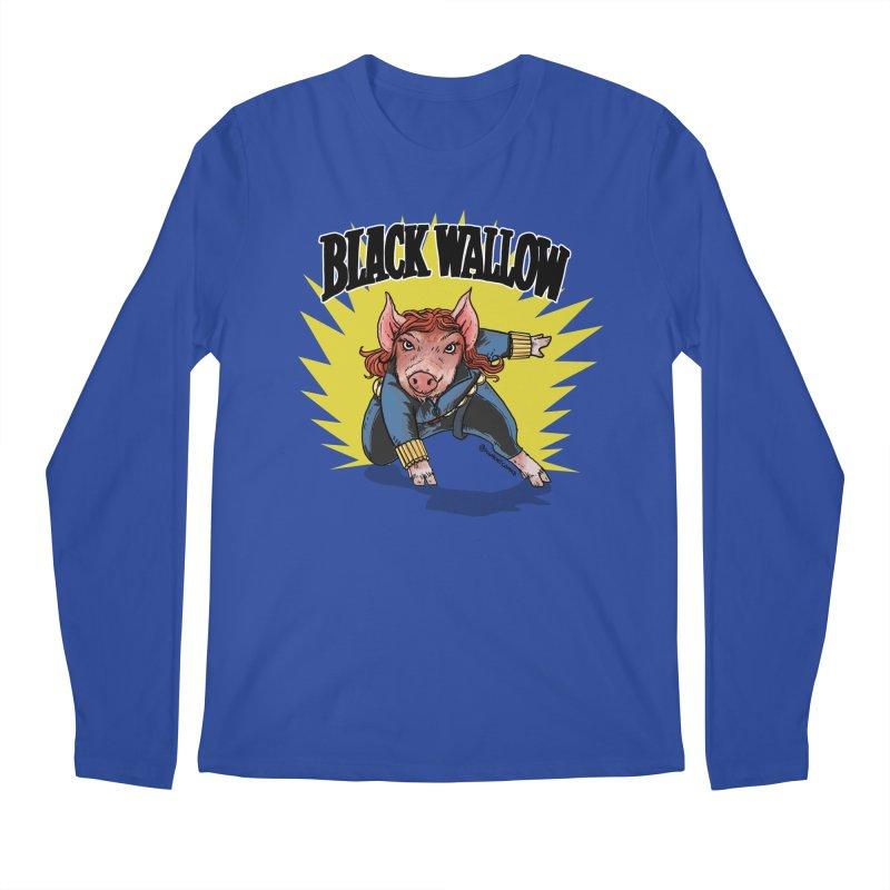 Black Wallow Men's Longsleeve T-Shirt by Pigment World Artist Shop