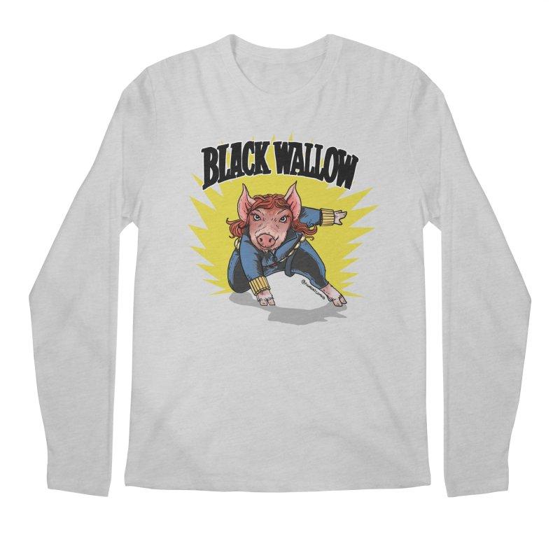 Black Wallow Men's Regular Longsleeve T-Shirt by Pigment World Artist Shop