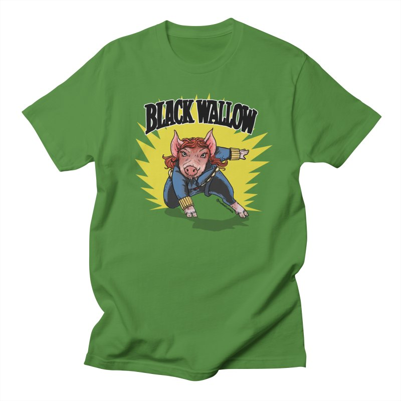 Black Wallow Men's Regular T-Shirt by Pigment World Artist Shop