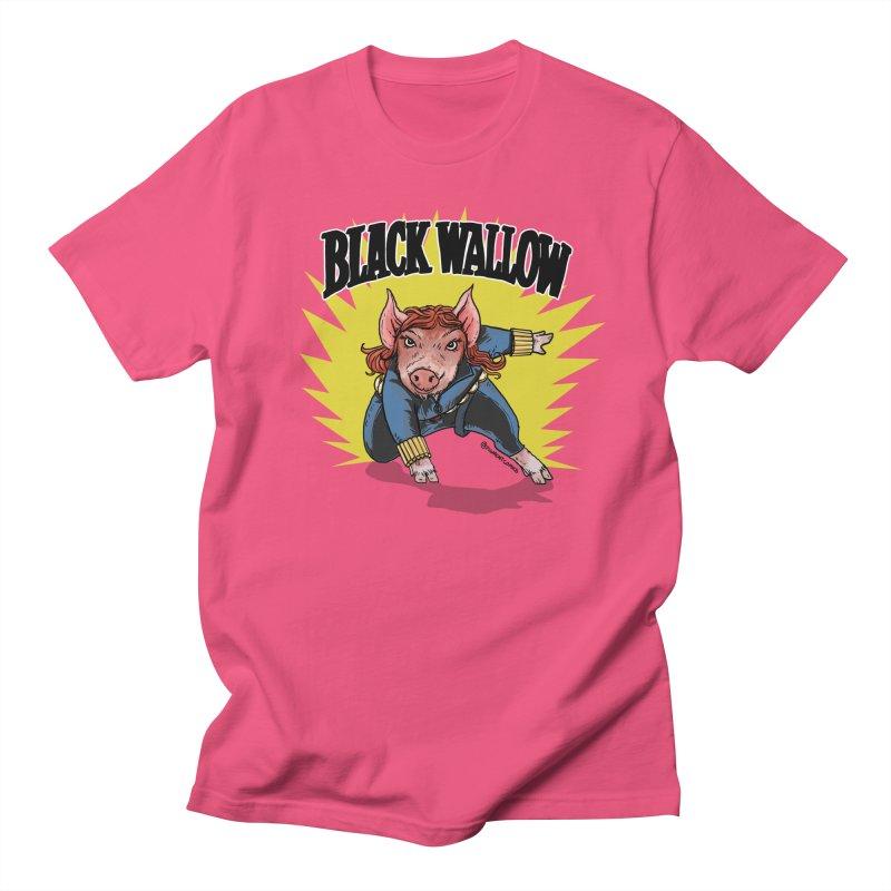 Black Wallow Men's Regular T-Shirt by Pigment World Artist Shop