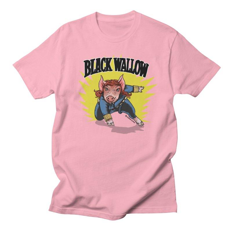 Black Wallow Women's Regular Unisex T-Shirt by Pigment World Artist Shop