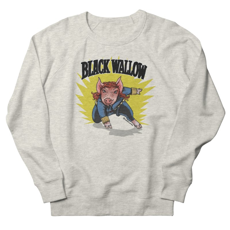 Black Wallow Women's French Terry Sweatshirt by Pigment World Artist Shop