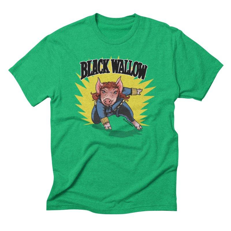 Black Wallow Men's Triblend T-Shirt by Pigment World Artist Shop