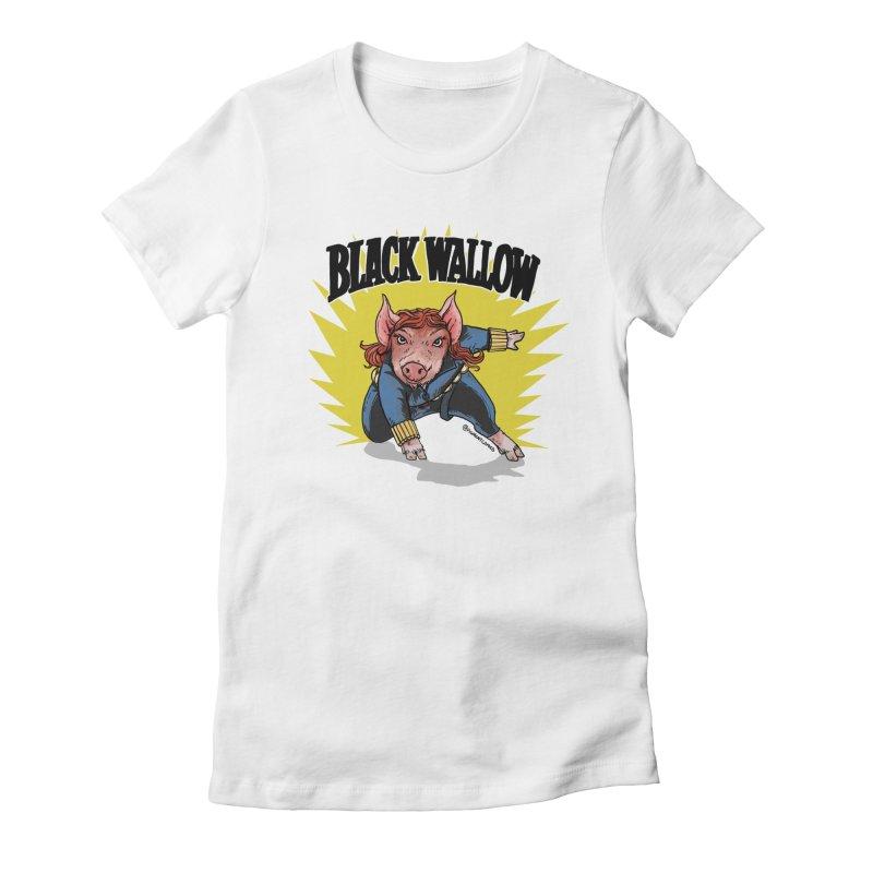 Black Wallow Women's T-Shirt by Pigment World Artist Shop