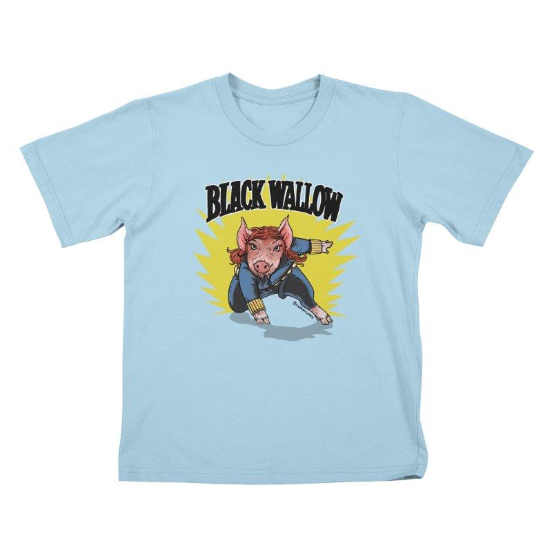 Black Wallow Kids T-Shirt by Pigment World Artist Shop