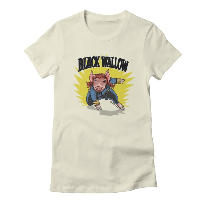 Black Wallow Women's Fitted T-Shirt by Pigment World Artist Shop
